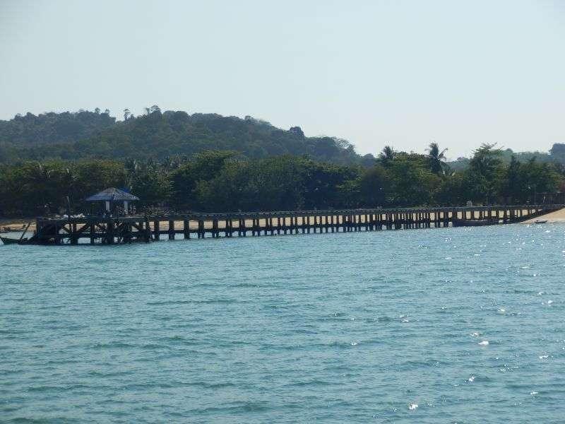 der Pier von Koh Phayam