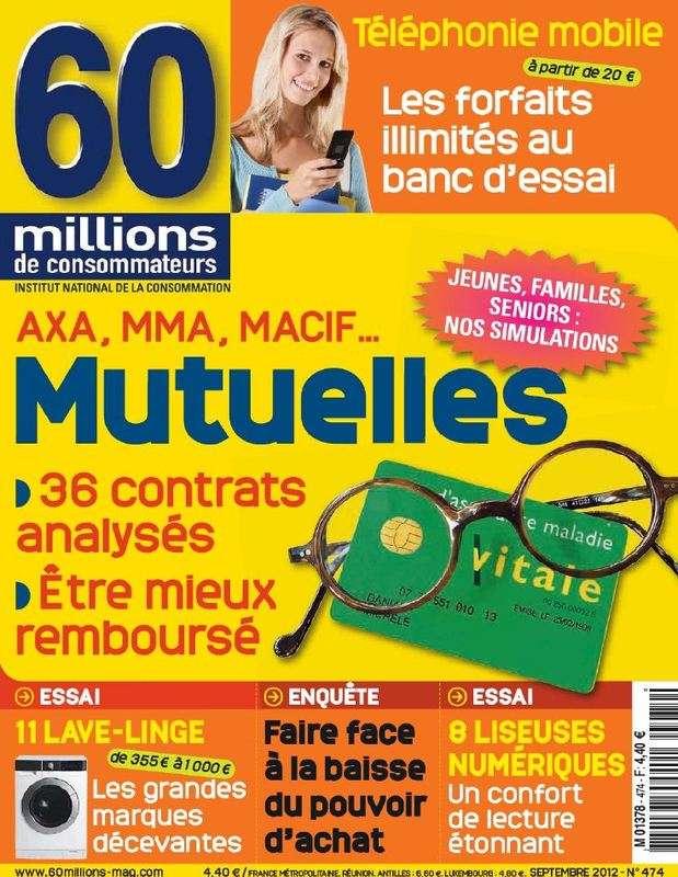 60 Millions de Consommateurs N°474 Septembre 2012