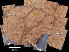 NASA&#39;s Mars rover Curiosity used its<br /> Mast Camera (Mastcam) to take the<br /> images combined into this mosaic of<br /> the drill area, called &quot;John Klein.&quot;<br /> Image credit: NASA/JPL-Caltech/MSSS&nbsp;&nbsp; <br /> <a href='http://www.nasa.gov/mission_pages/msl/multimedia/pia16686.html' class='bbc_url' title='External link' rel='nofollow external'>� Full image and caption</a>