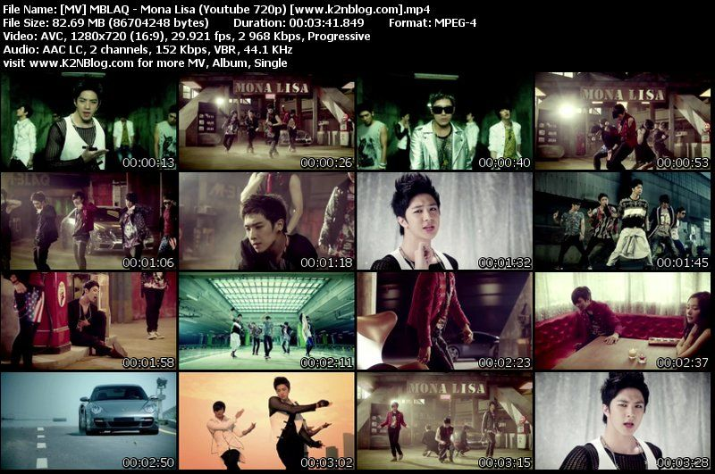 [MV] MBLAQ   Mona Lisa (HD Youtube 720p)