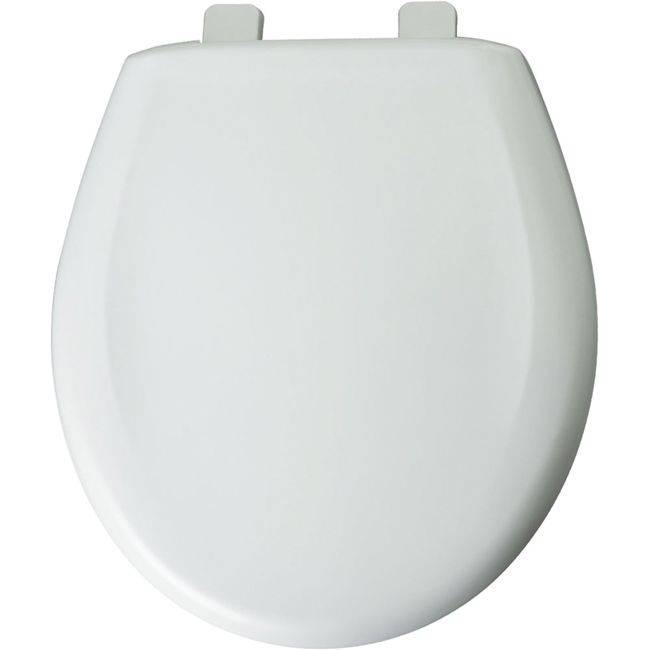 Church Bemis 300TCA 000 Round Plastic Toilet Seat With Cover White