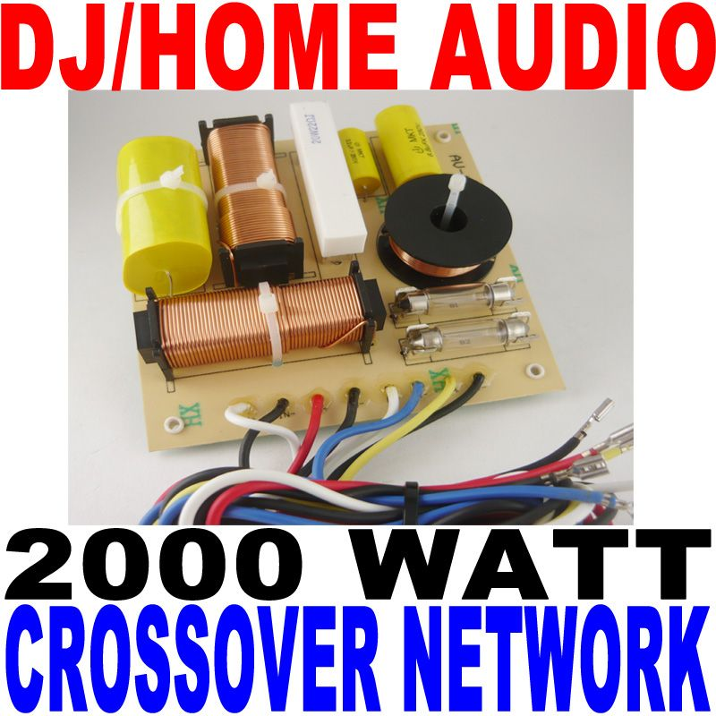 2000 WATT DJ/HOME AUDIO CROSSOVER NETWORK 3-WAY NEW! | eBay