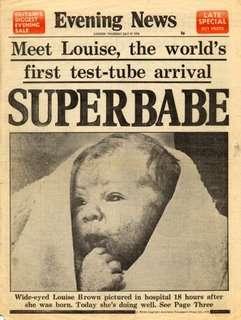 Louise Brown em 1978