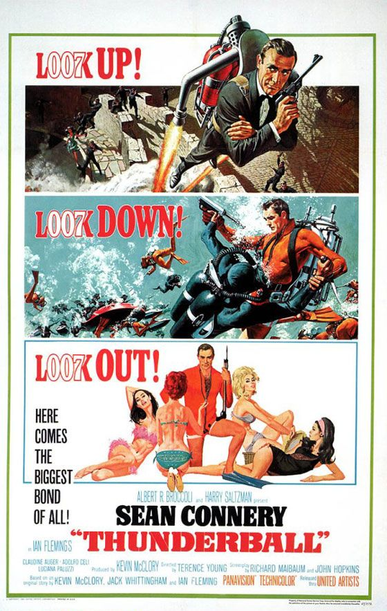 James Bond 007 Thunderball Poster