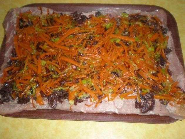 aadirverdura - ▷ Cinta de lomo rellena de Salsa de frutos secos en reducción de vino tinto  