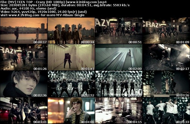 [MV] TEEN TOP   Crazy (HD 1080p Youtube)