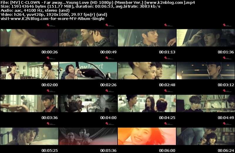 [MV] C-CLOWN - Far Away...Young Love (Member Ver.) [HD 1080p Youtube]