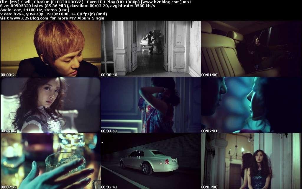 [MV] K.will & ChaKun (ELECTROBOYZ) - Even If U Play (HD 1080p Youtube)